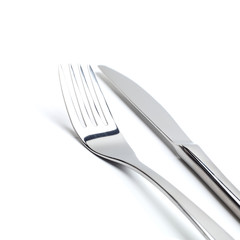 metal fork and knife