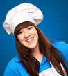 portrait of a happy female chef