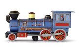 Toy Train Blue