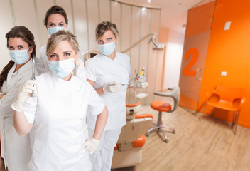 Female dental team