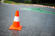 Traffic cone, racetrack