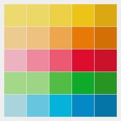 Farbquadrate / Farbmuster auf Betonputz