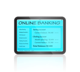 Online Banking on Touch Screen