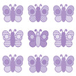 Baby Butterflies in Pastel Lavender Gingham and Polka Dots