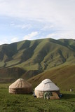 Yurt tents, Lake Song-Kul, Kyrgyzstan, Kirghizistan