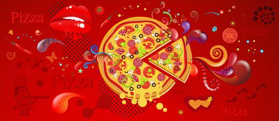 Abstract Background Pizza