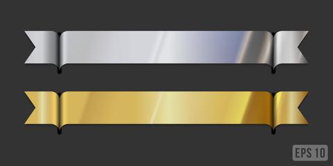 Modern metallic ribbons - blank