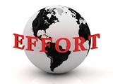 EFFORT abstraction inscription around earth poster