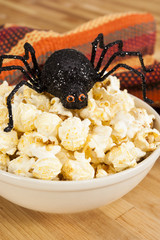 Halloween Spider with Popcorn