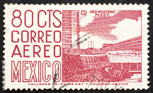 Postage stamp Mexico 1952 Mexico City University Stadium