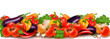 Banner made of fresh colorful vegetables  Vector