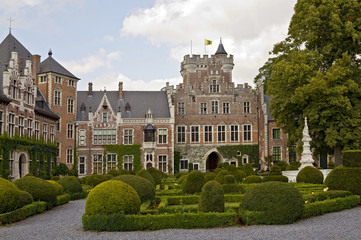 Courtyard of Gaasbeek Castle