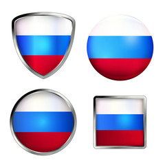 russland flag icon set