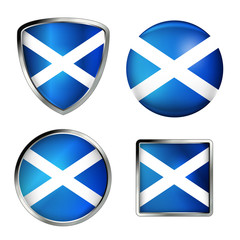 scottland flag icon set