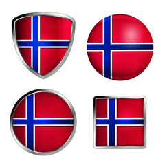 norway flag icon set