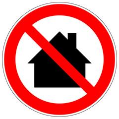 Verbotszeichen - Nicht in Wohngebieten