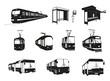 Transport miejski - duży zestaw wektorowy - 44204726