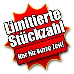 """Siegel """"Limitierte Stückzahl - Nur für kurze Zeit!"""""""