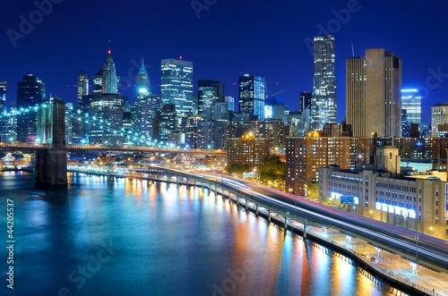Fototapeten,new york city,downtown,orientierungslichter,anblick