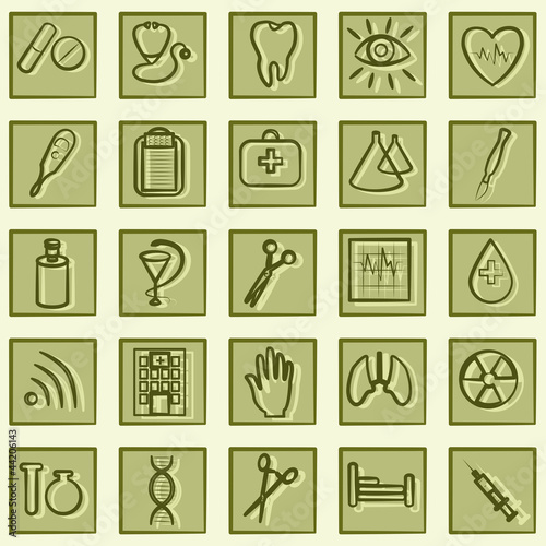 Medicine and Health vector icons