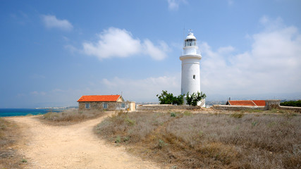 Old lighthouse near city of Paphos, Cyprus
