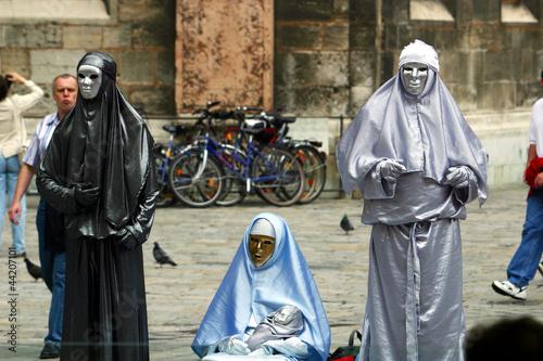 Heilige Familie als lebende Statuen