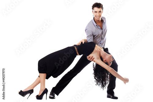 Fototapeten,salsa,poser,paar,aktiv