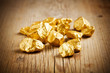 canvas print picture - Gold nuggets