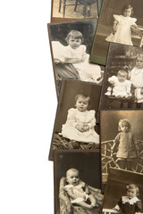 vintage baby portraits in sepia