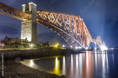 Night over the Forth Road Bridge
