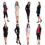 Businesswomen full length portraits