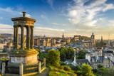 Fototapety View of the castle from Calton Hill at sunset