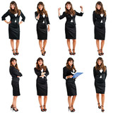 Full length portraits of a friendly businesswoman