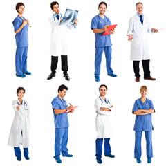 Medical workers collection