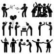 Friend Party Celebration Birthday Icon Symbol Sign Pictogram - 44214113