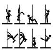 Sexy Pole Dance Icon Symbol Sign Pictogram