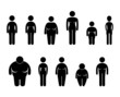 Woman Body Figure Size Icon Symbol Sign Pictogram