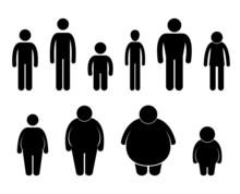 Rysunek Mężczyzna ciała rozmiar piktogram Symbol, znak, ikona
