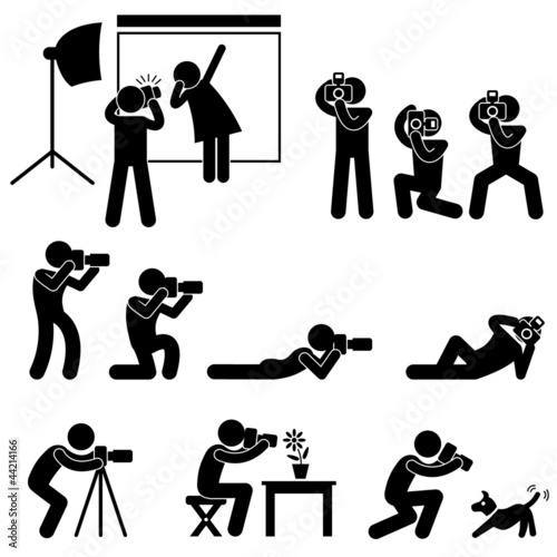 Photographer Cameraman Paparazzi Pose Posing Pictogram