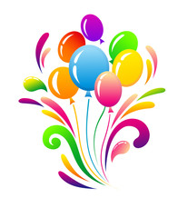 Colorful balloons for birthday decoration