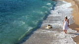 walking along sea