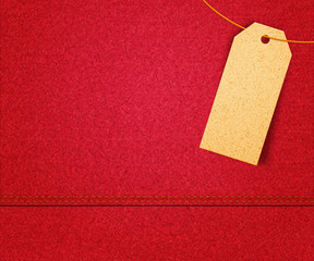 Red Clothes Label