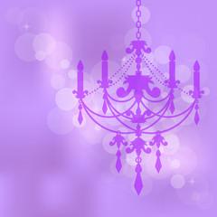 Vector purple background with chandelier
