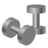 Vector illustration of dumbbells