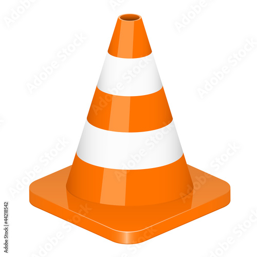 Vector illustration of traffic cone