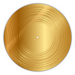 Vector illustration of golden vinyl record