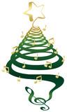 Fototapety Musical Christmas tree