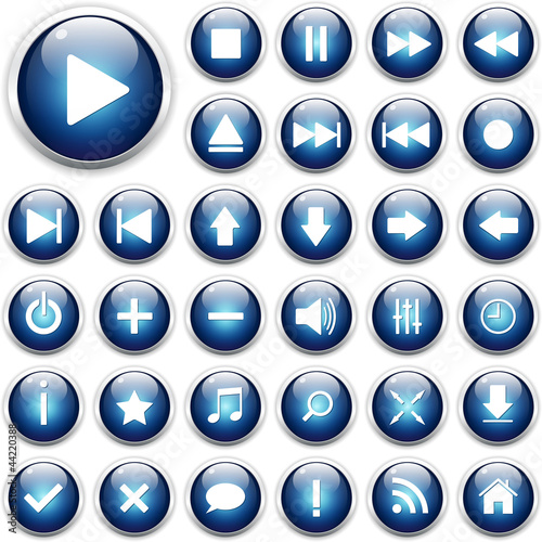 Set of web icons, buttons