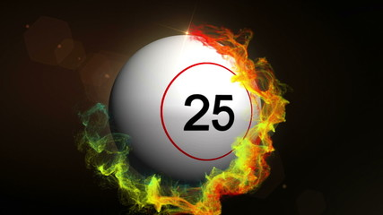 Bingo Ball in Particle Ring Red - HD1080