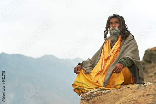 Indian monk sadhu - 44220713